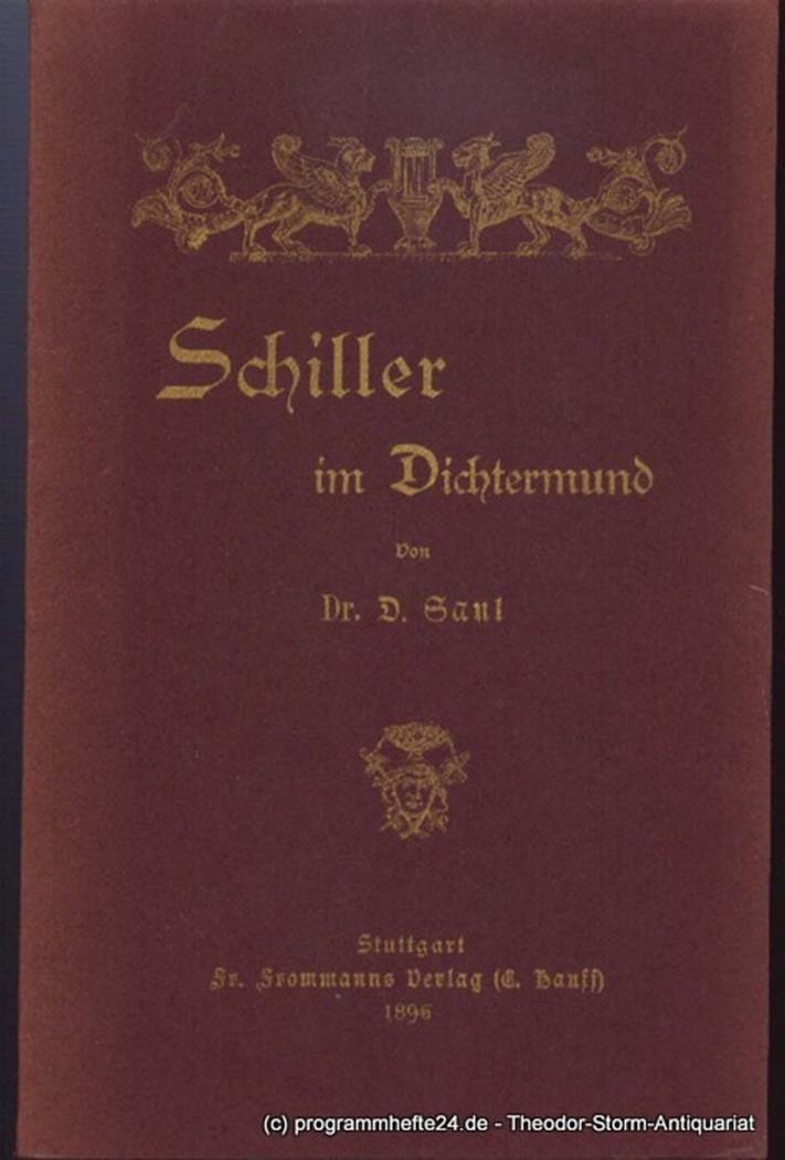 Schiller im Dichtermund Saul D.