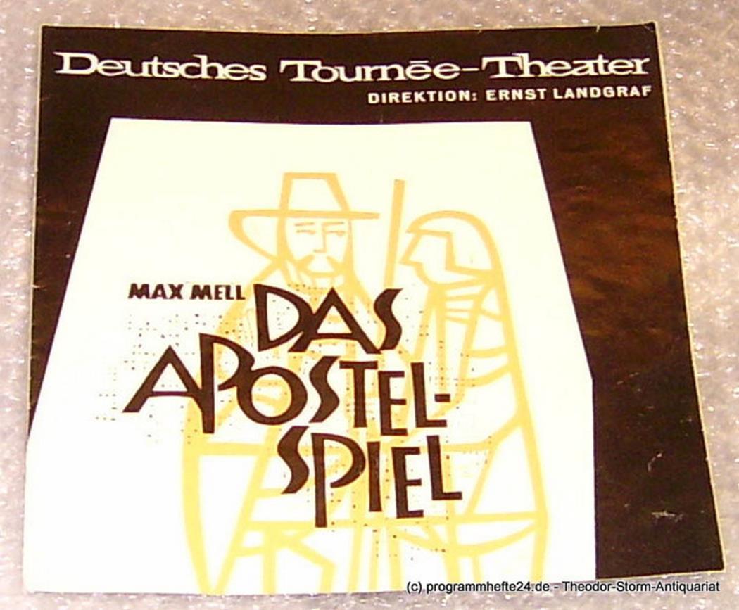 Das Apostel-Spiel. Von Max Mell. Programmheft Euro-Studio Ernst Landgraf