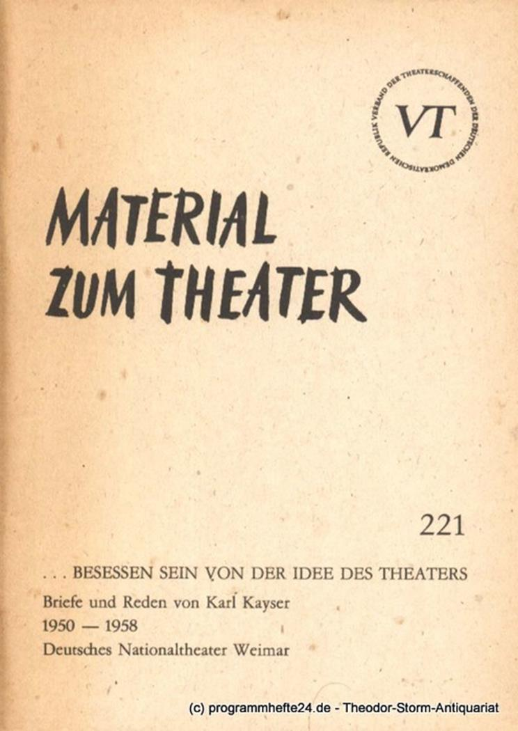 Material zum Theater Nummer 221 Reihe Schauspiel Heft 71 John Hans-Rainer