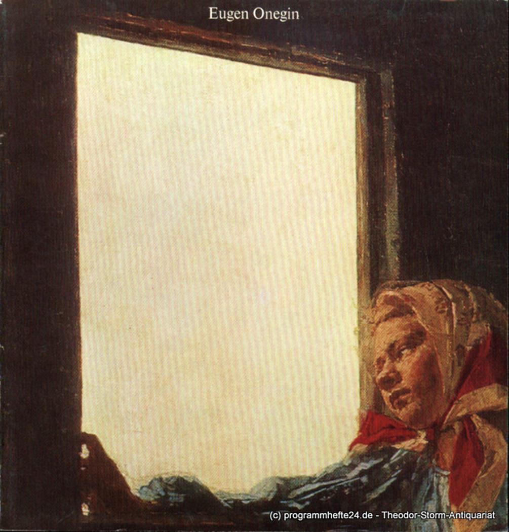 Programmheft Eugen Onegin. Premiere 11. Feburar 1979 Hamburgische Staatsoper, Ch