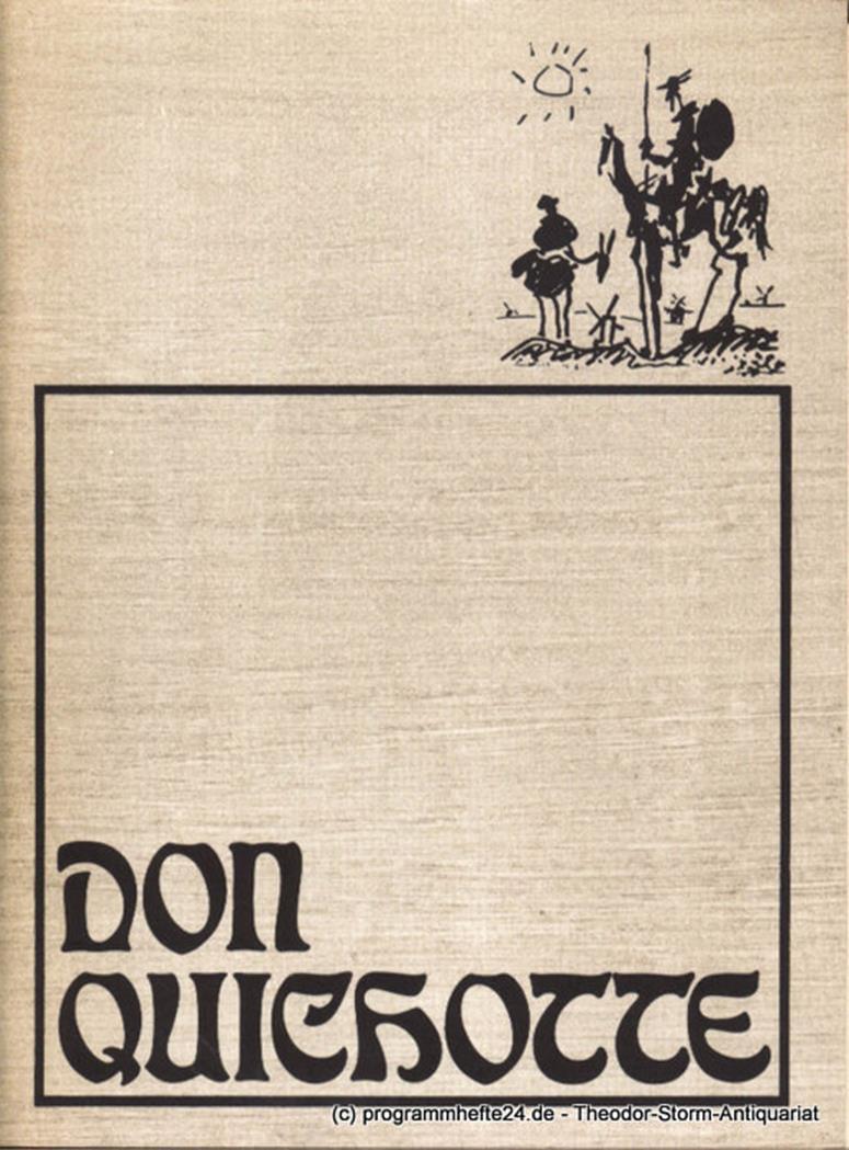 Programmheft Don Quichotte. Erstaufführung. Premiere 26. Januar 1975 Hamburgisch