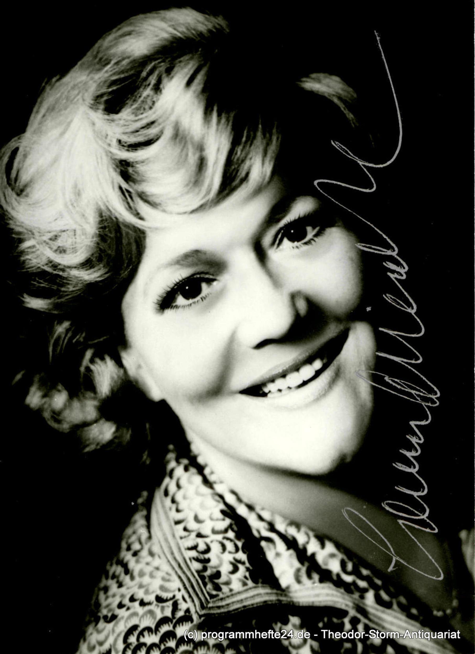 Autogrammkarte Leonie Rysanek Opernsängerin Sopran, signiert Oper Sängerin