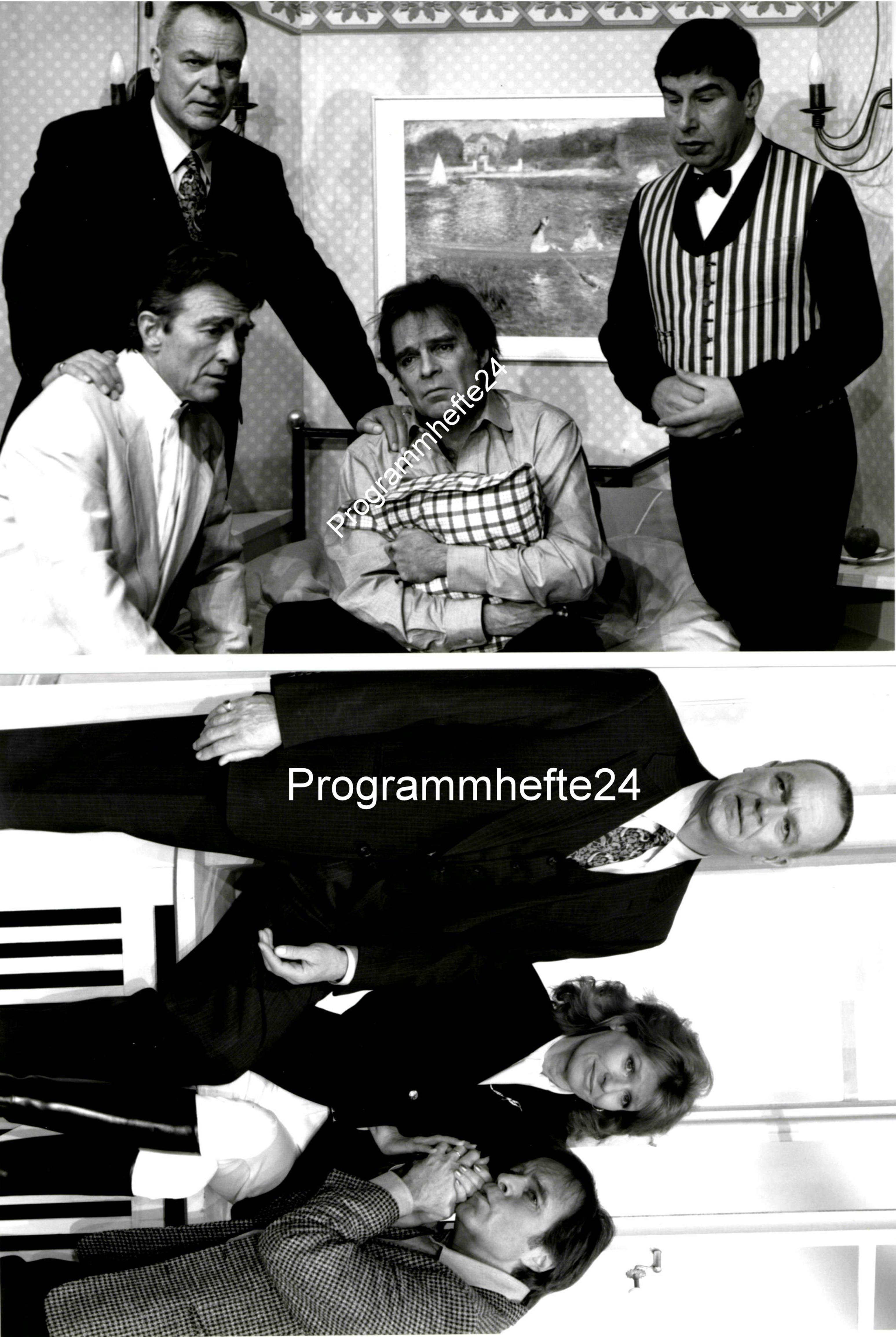 2 original Bühnenfotos / Szenenfotos Dirk Galuba Thomas Fritsch