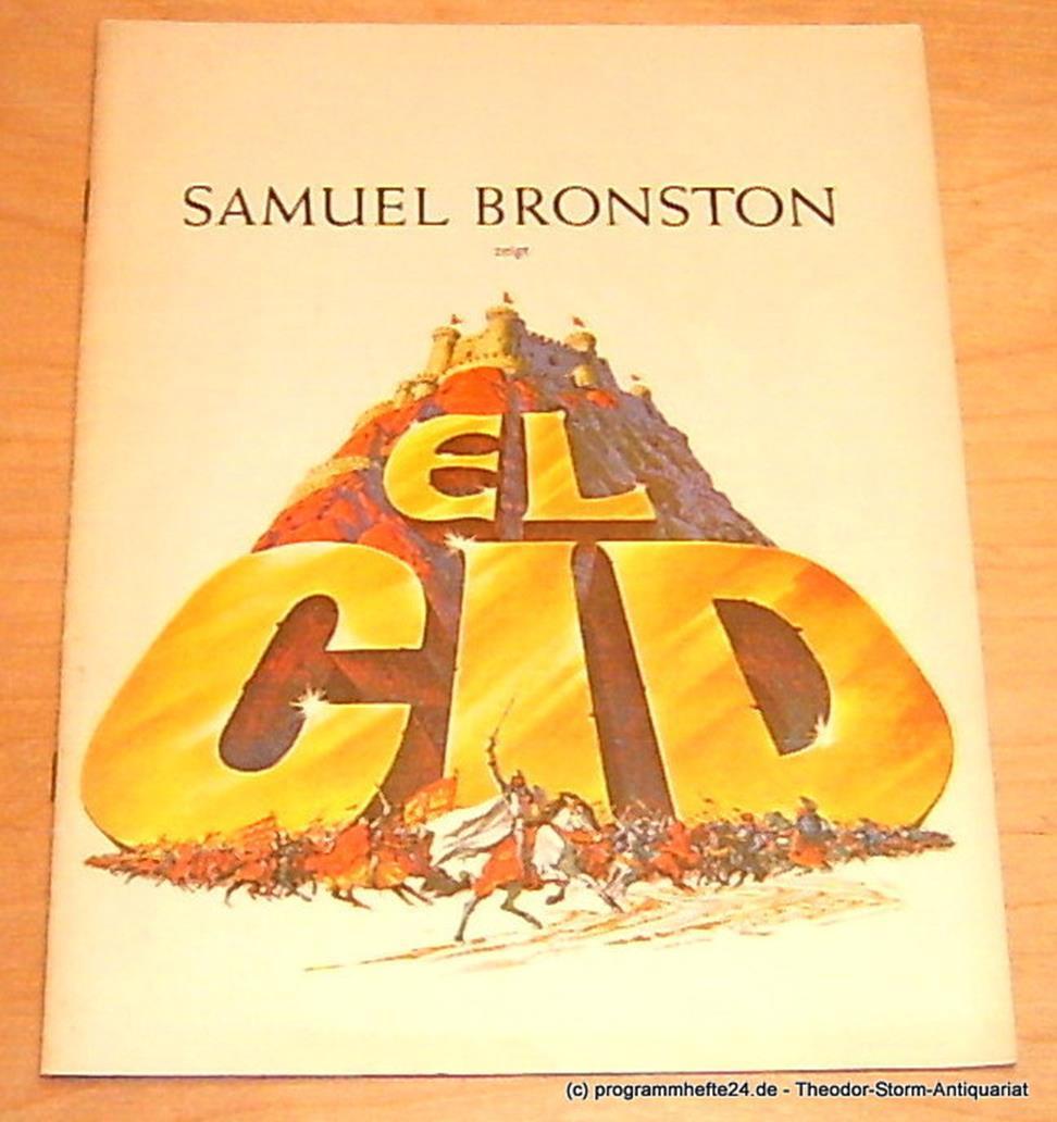 Souvenier-Bildschrift EL CID Bronston Samuel