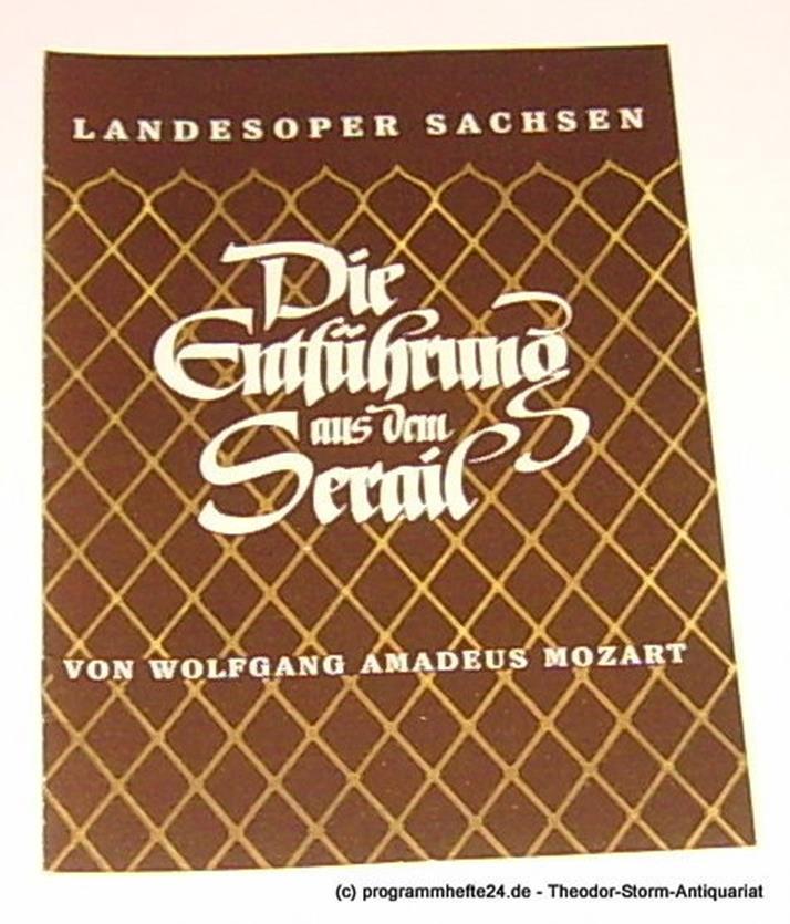 Programmheft Die Entführung aus dem Serail von Wolfgang Amadeus Mozart Landesope