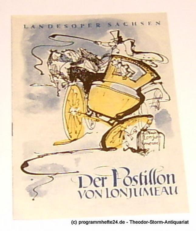 Programmheft Der Postillon von Lonjumeau Landesoper Sachsen