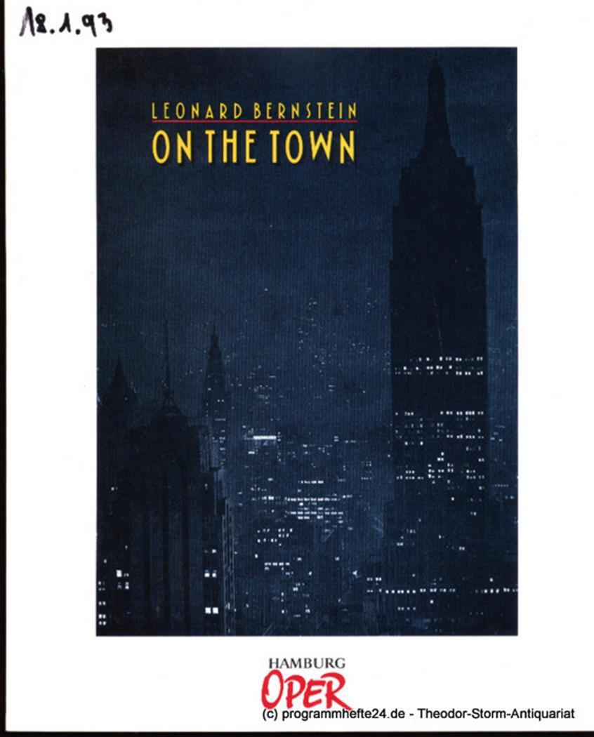 Programmheft zur Premiere On the Town am 15. Dezember 1991 Hamburgische Staatsop