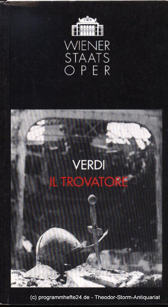 Programmheft Verdi Il Trovatore. Premiere 22. Oktober 1993. Spielzeit 1993 / 94