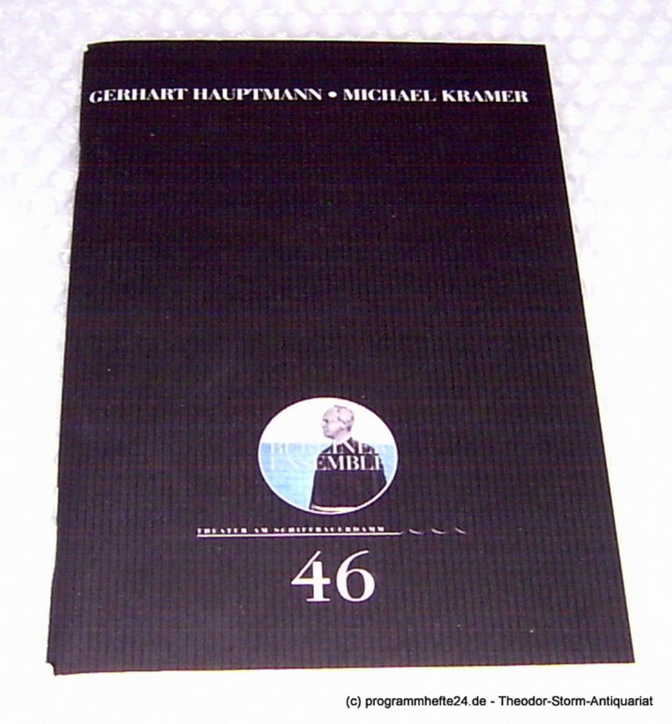 Programmheft Michael Kramer von Gerhart Hauptmann. Premiere 25. Februar 2003. Pr