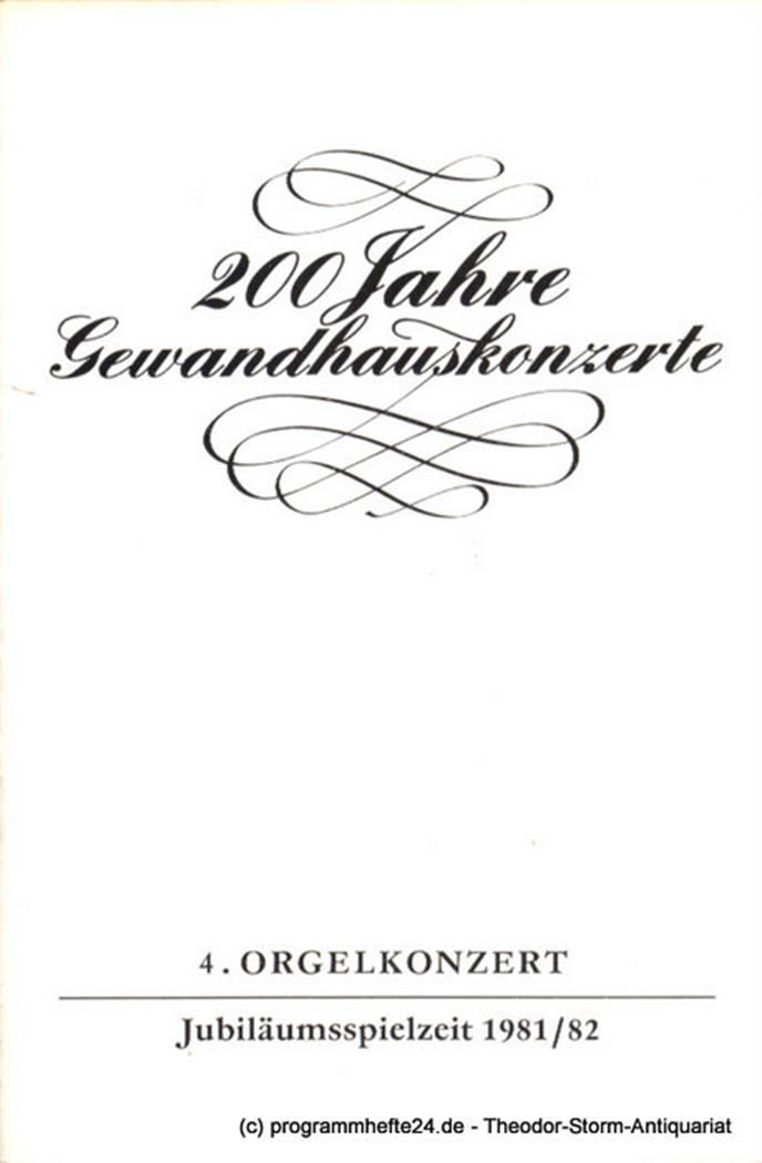 Programmheft 4. Orgelkonzert. Milan Slechta. Gewandhaus zu Leipzig Jubiläumsspie