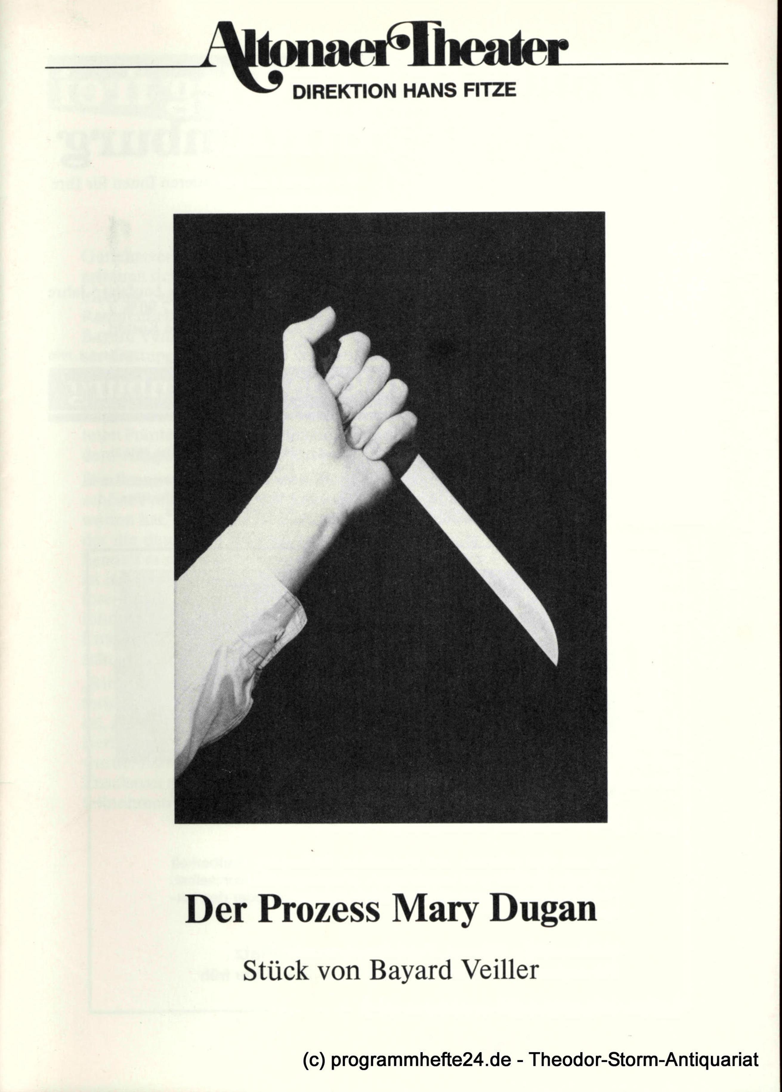 Programmheft Der Prozeß Mary Dugan. Ein Stück von Bayard Veiller. Programmheft 3
