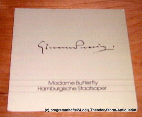 Programmheft Madame Butterfly. Oper von Giacomo Puccini. Freitag 5. April 1991 H