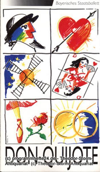 Programmheft zur Neuinszenierung Don Quijote. Ballett in zwei Akten. 22.12.1991