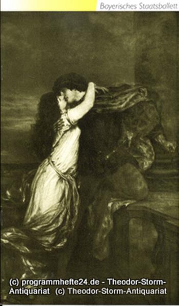 Programmheft zum Ballett Romeo und Julia. Bayerisches Staatsballett 1990 / 91. Ü