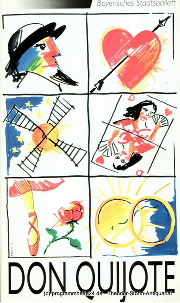 Programmheft zur Neuinszenierung Don Quijote. Premiere 22.12.1991 Bayerisches St