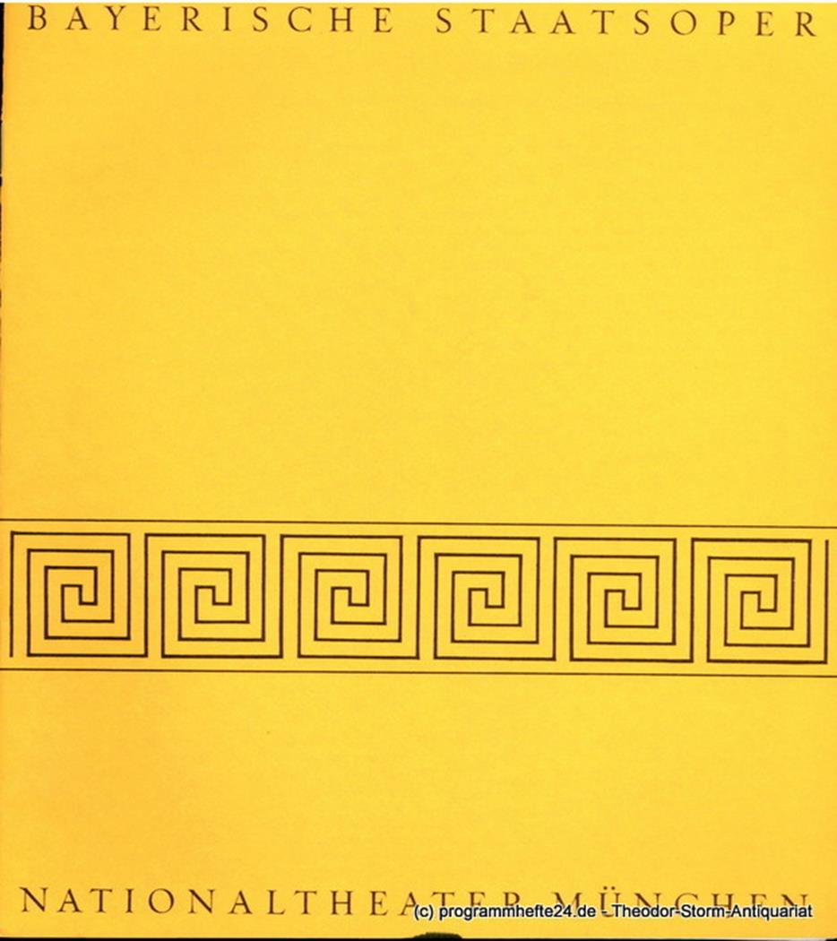 Programmheft Serenade / Ramifications / La Mer / Moira. 16. Mai 1976. Blätter de