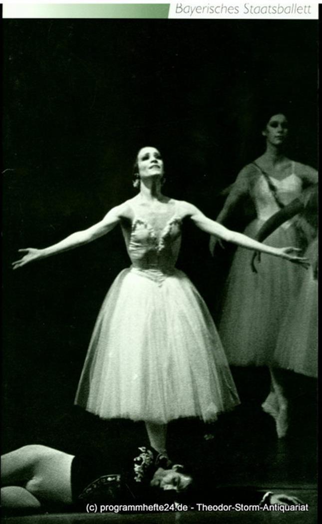 Programmheft Programmheft zum Ballett GISELLE von Theophile Gautier, Vernoy de S