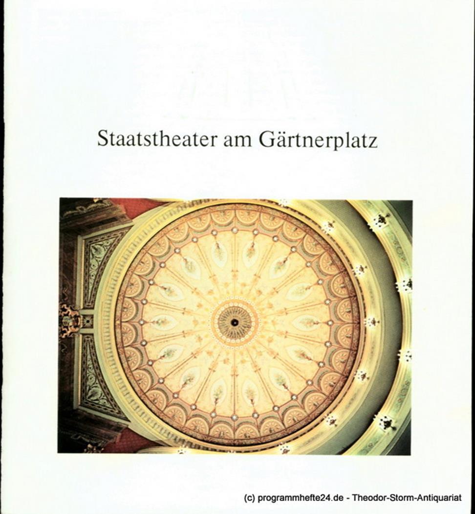 Programmheft Die Zauberflöte. Eine Deutsche Oper. Programmheft des Bayerischen S