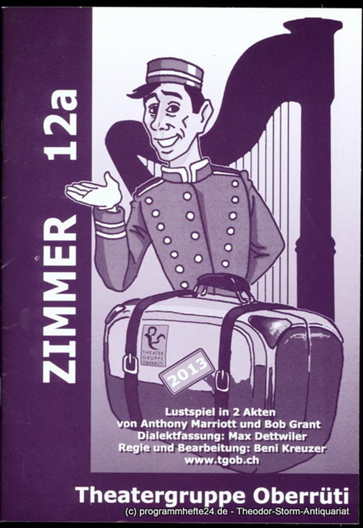 Programmheft Zimmer 12 a. Lustspiel von Anthony Marriott und Bob Grant Theatergr