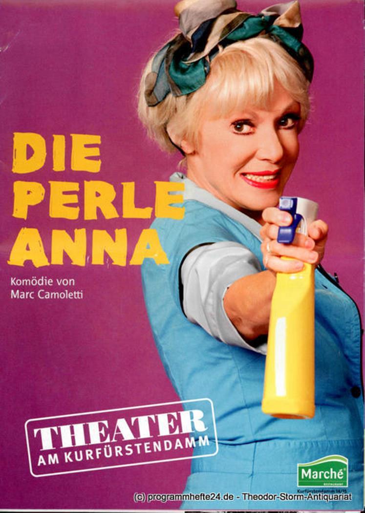 Programmheft Die Perle Anna. Komödie von Marc Camoletti. Premiere 18. September