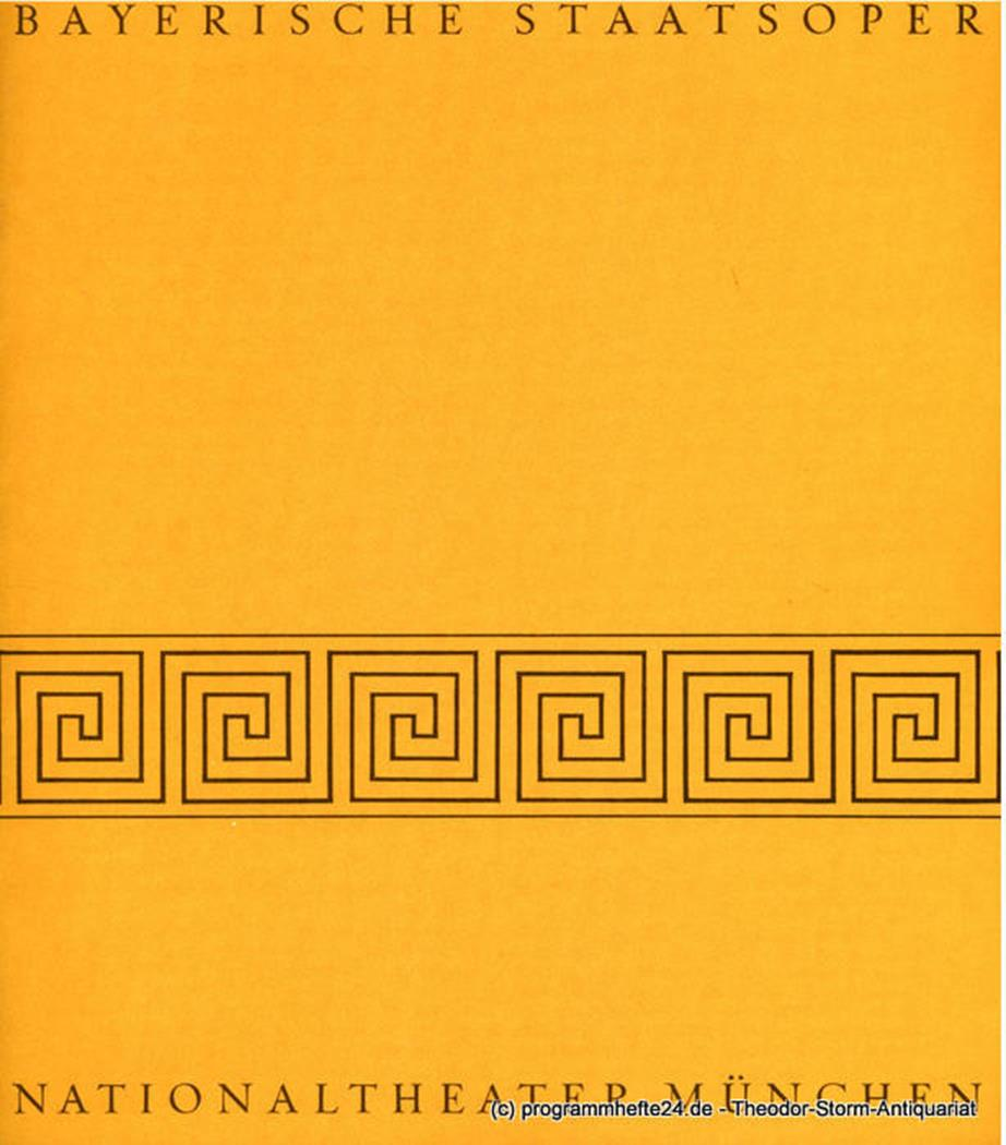 Programmheft Die Macht des Schicksals. Oper von Francesco Maria Piave. Blätter d