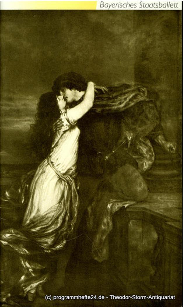 Programmheft zum Ballett Romeo und Julia. Spielzeit 1990 / 91 Bayerische Staatso