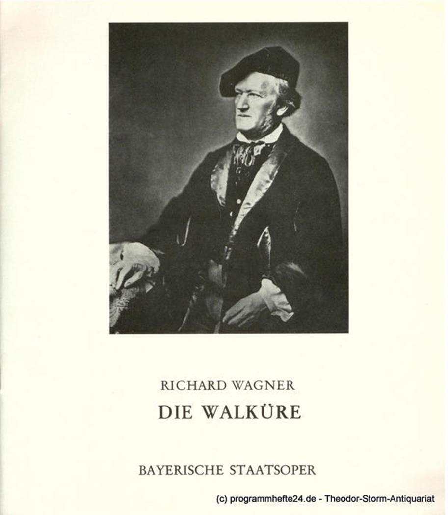 Programmheft Die Walküre. Premiere 9. Juni 1974. Staatsoper München
