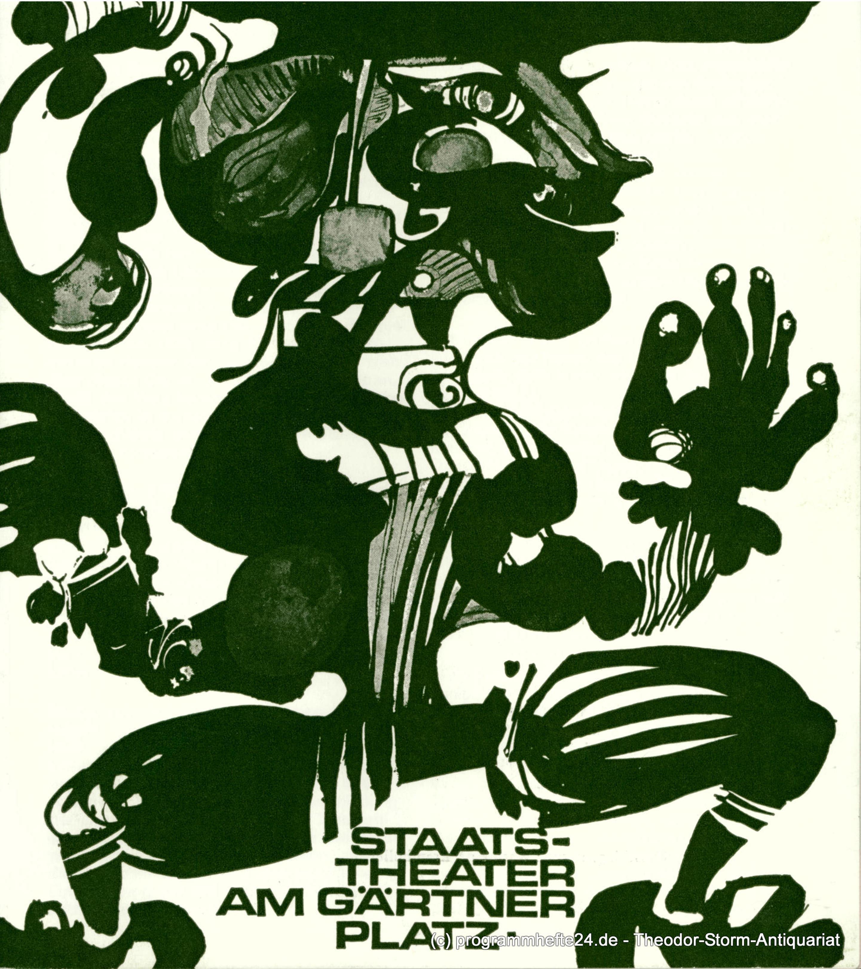 Programmheft Lucia von Lammermoor. Staatstheater Gärtnerplatz 1974