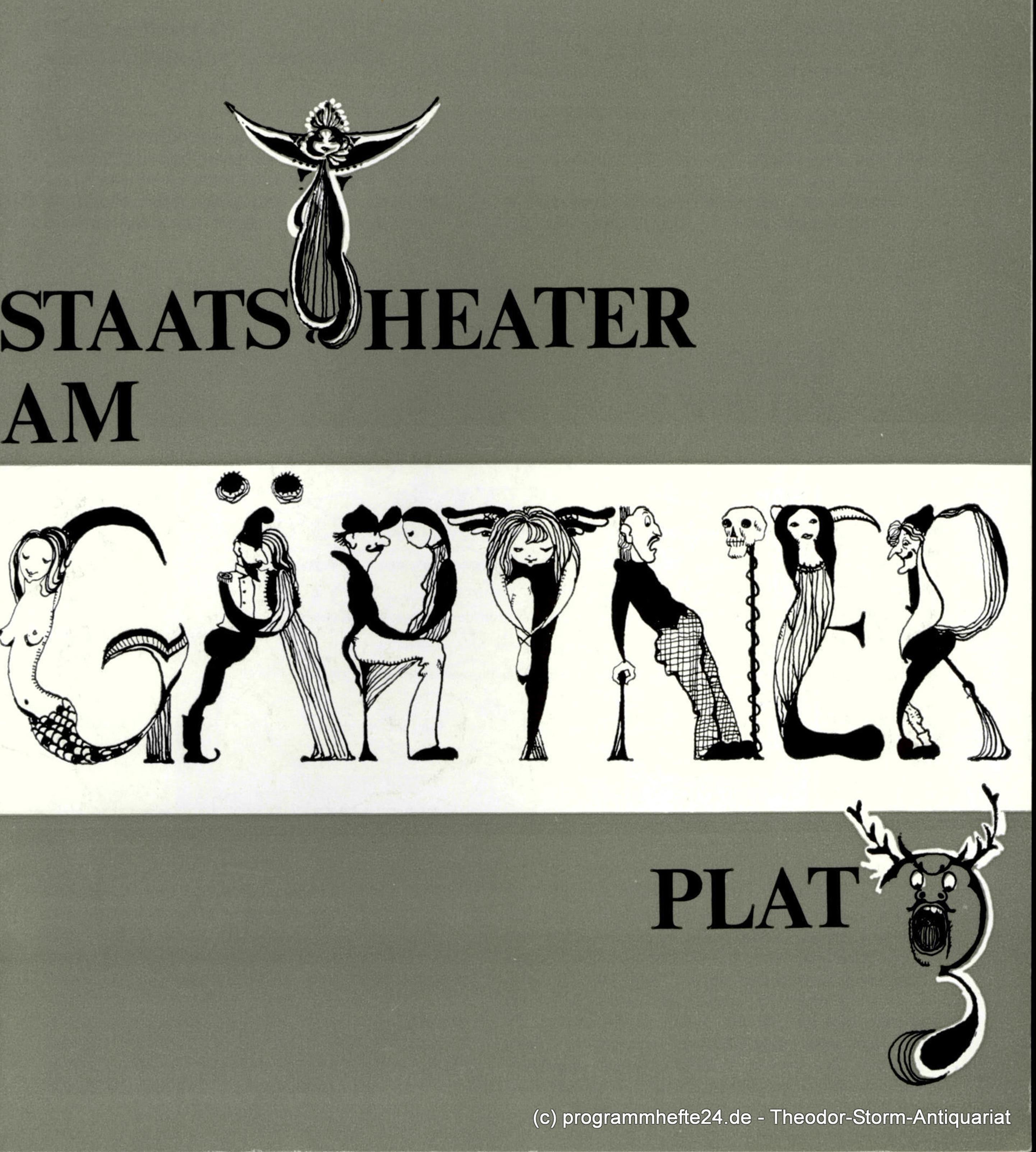 Programmheft Die Entführung aus dem Serail. Staatstheater Gärtnerplatz 1974