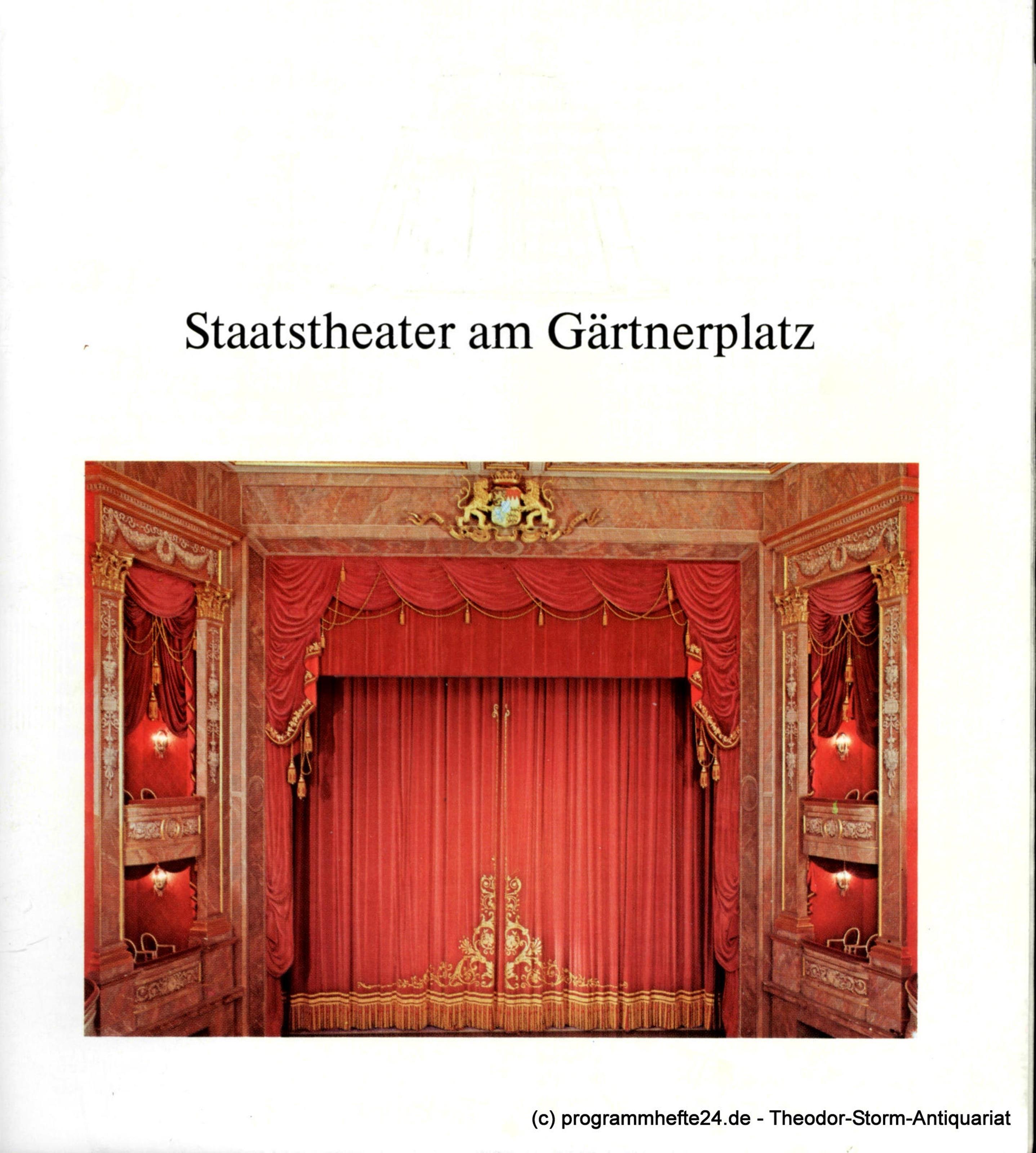 Programmheft Die Zauberflöte. Staatstheater am Gärtnerplatz 1975