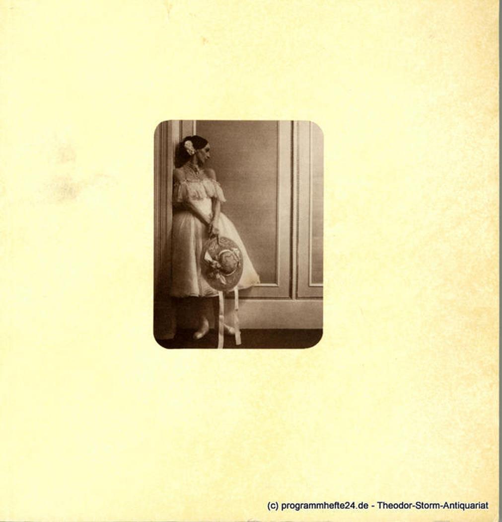 Programmheft Die Kameliendame. Ballett von John Neumeier 1981