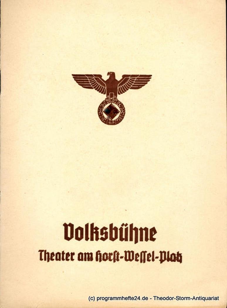 Der Pfarrer von Kirchfeld Volksbühne Berlin 1939