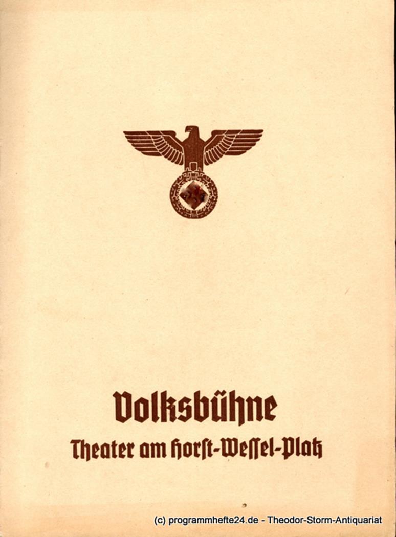 Programmheft Romeo und Julia Volksbühne Berlin 1940