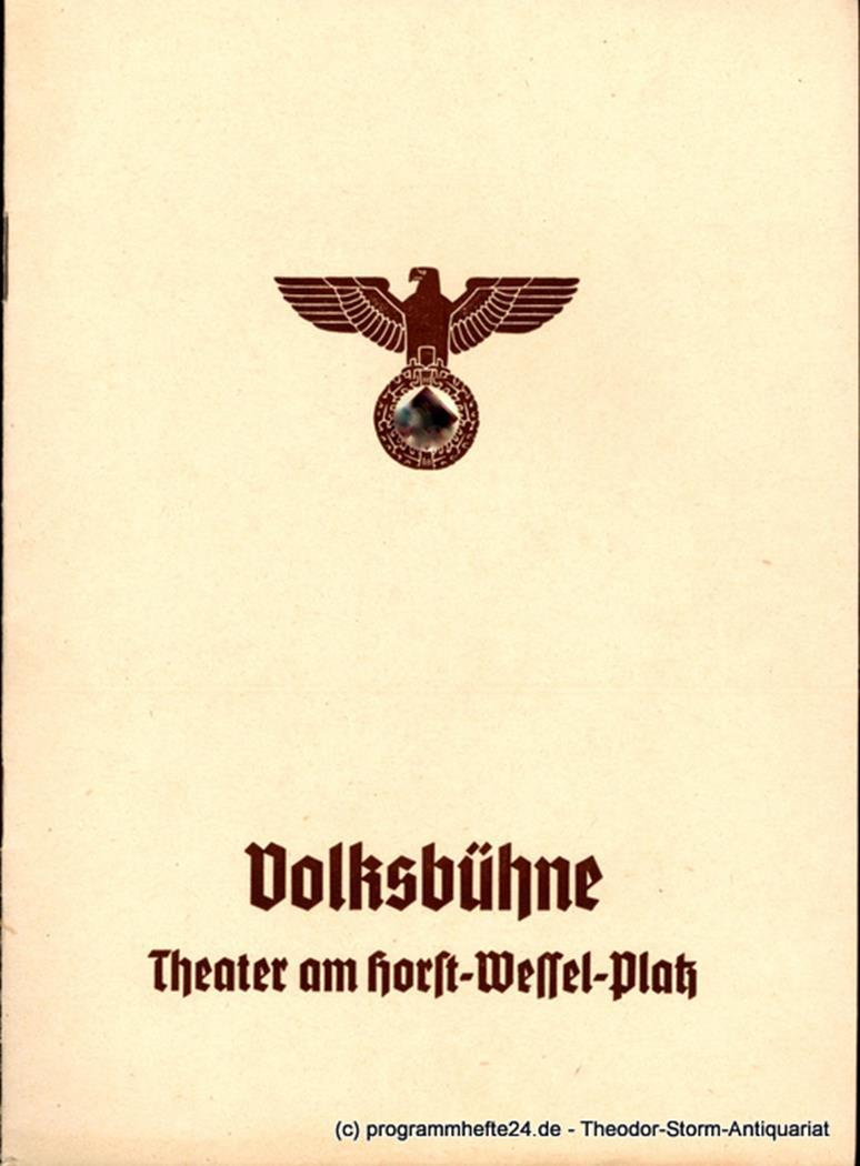 MEDEA. Trauerspiel von Franz Grillparzer Volksbühne Berlin 1940