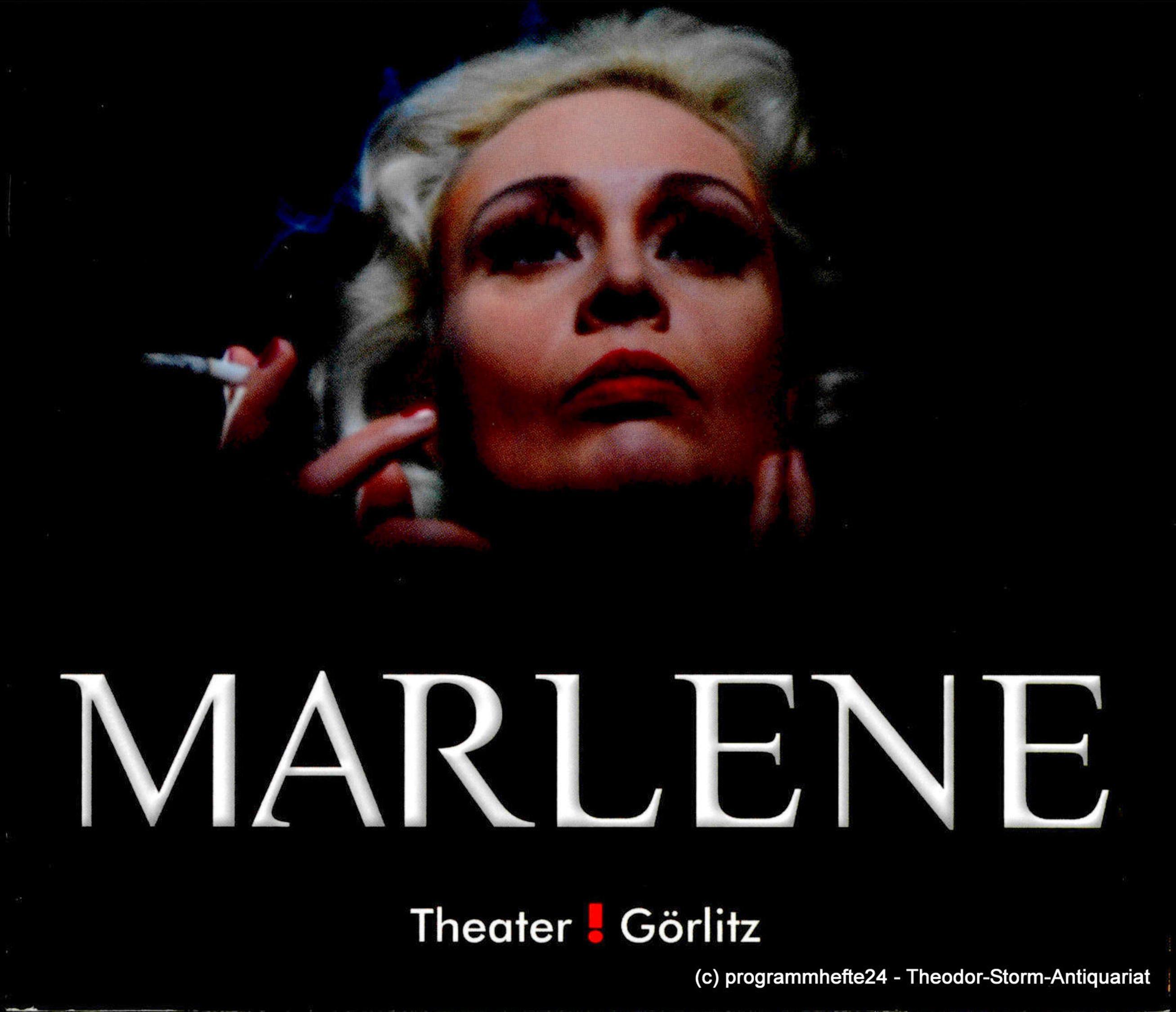 Programmheft MARLENE. Ein Stück mit Musik von Pam Gems. Görlitz 2011