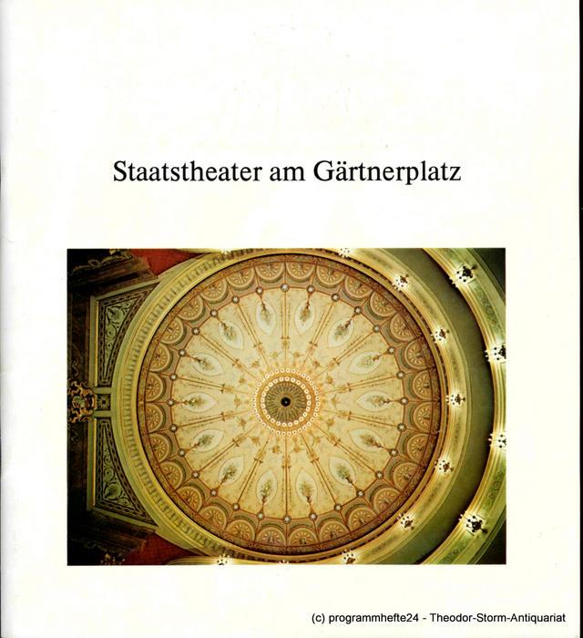 Programmheft Die lustigen Weiber von Windsor. Gärtnerplatz München 1981