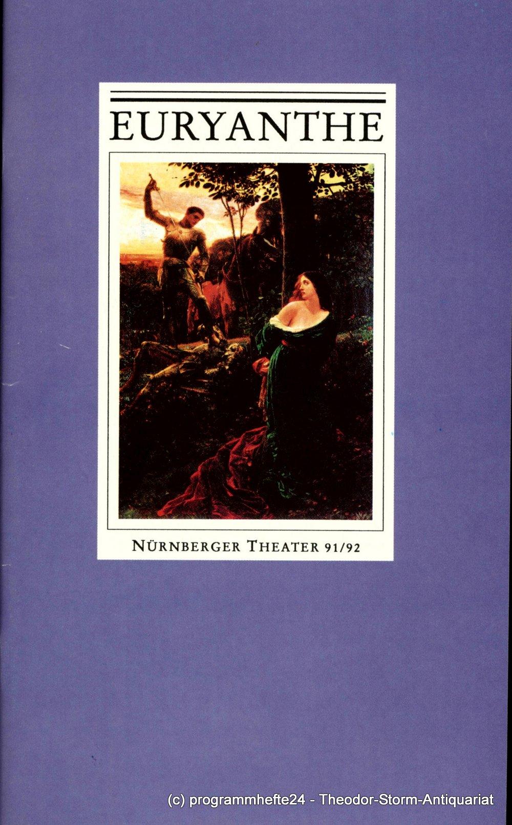 Programmheft zur Premiere EURYANTHE. Oper Nürnberg 1991