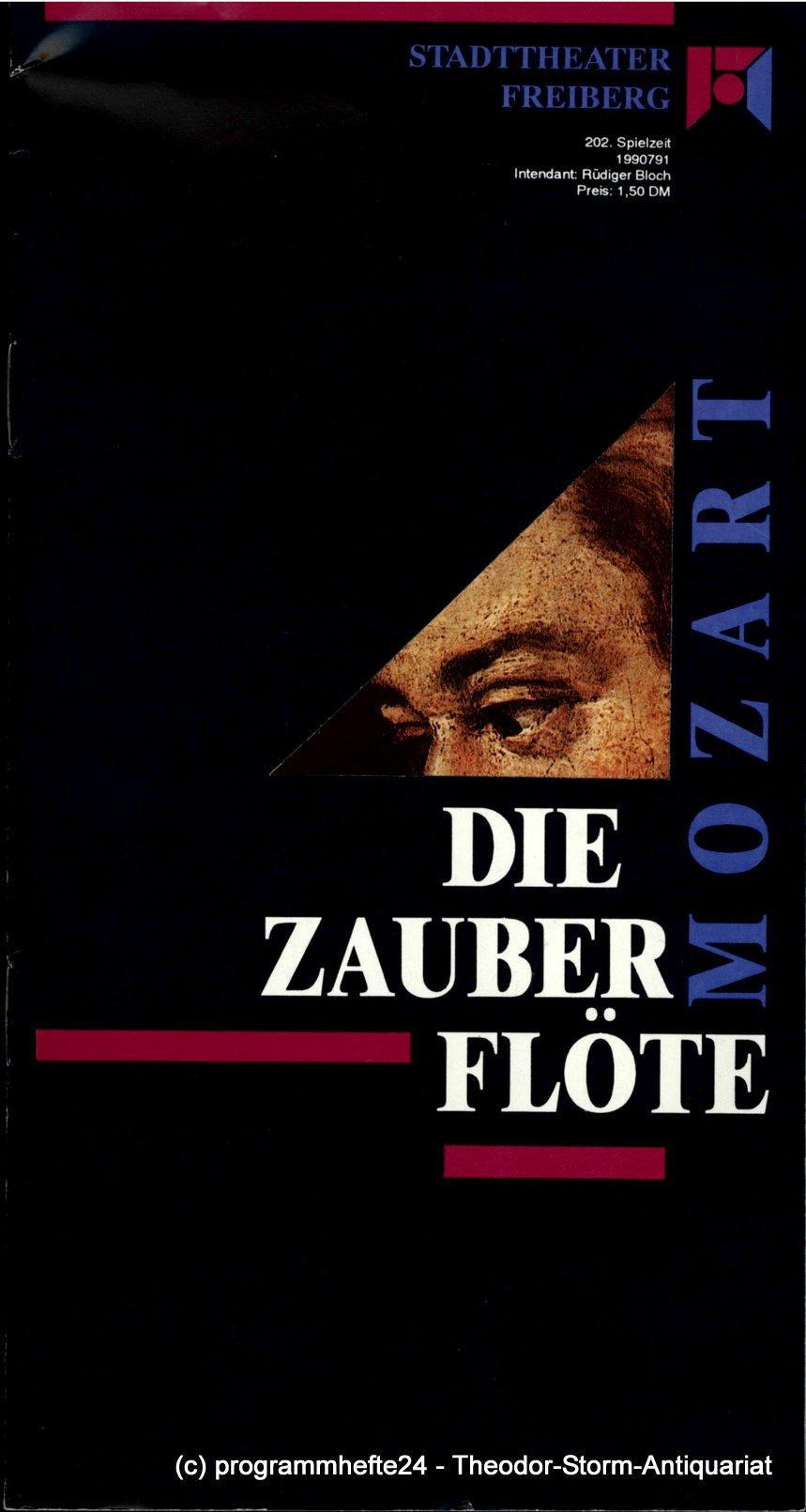 Programmheft Die Zauberflöte. Stadttheater Freiberg 1991