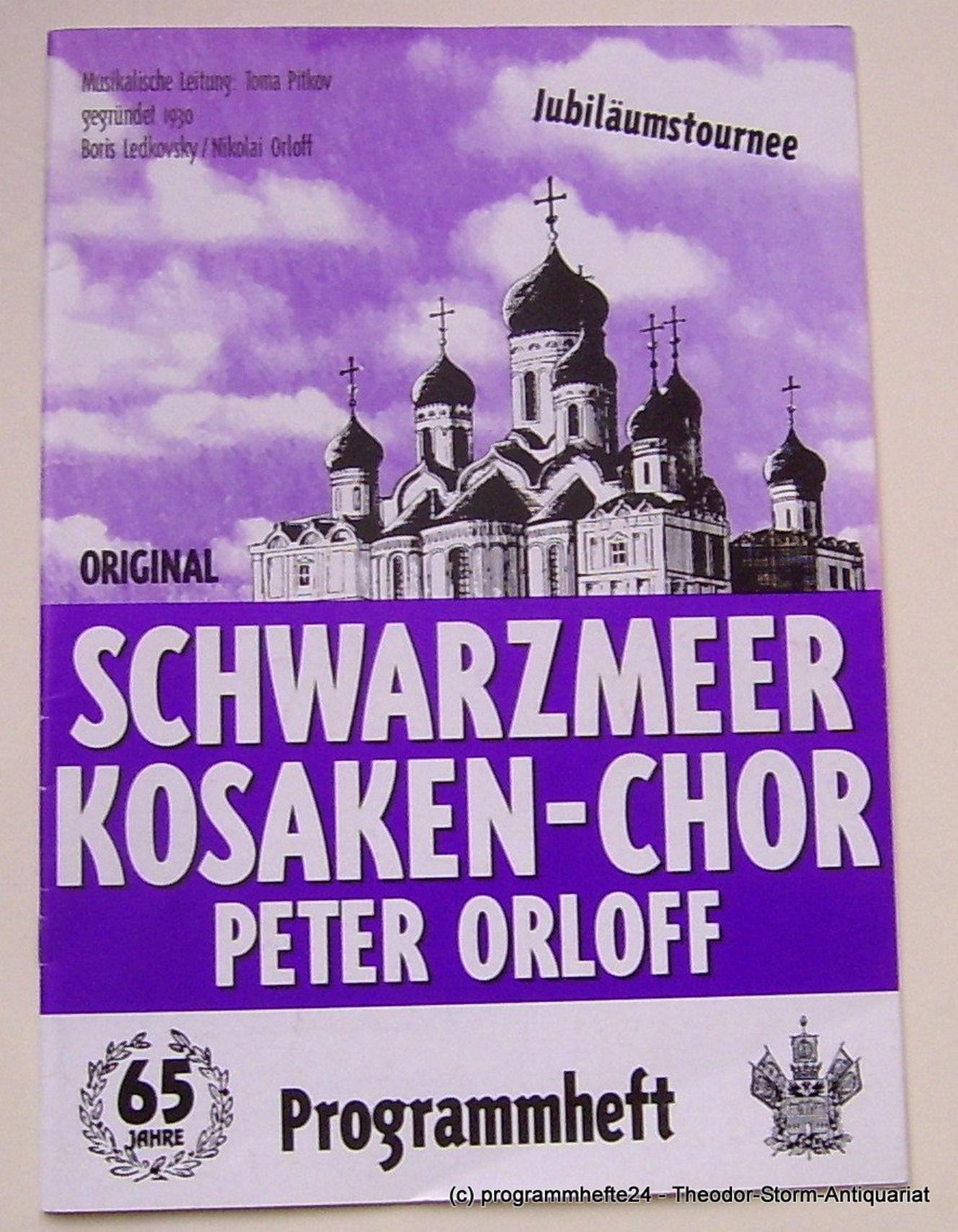 Programmheft Original Schwarzmeer Kosaken-Chor Peter Orloff