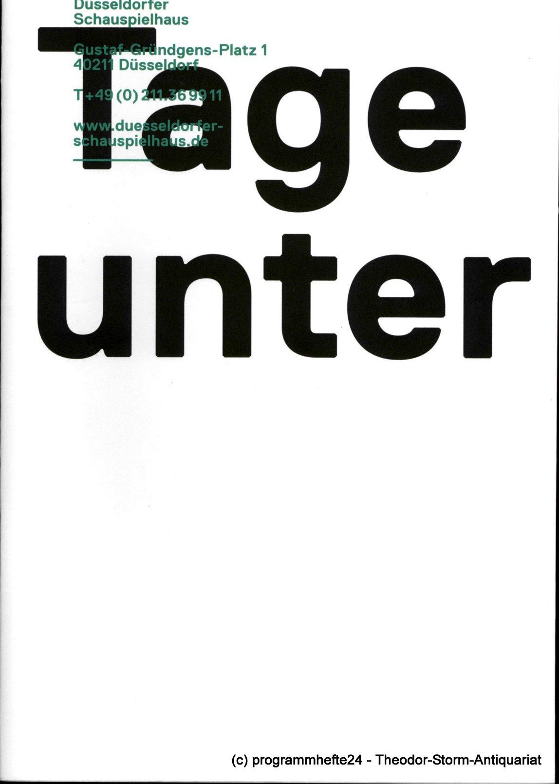 Programmheft Tage unter von Arne Lygre.Düsseldorfer Schauspielhaus 2012
