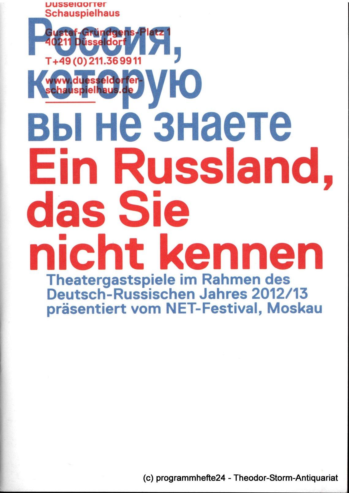 Programmheft Ein Russland, das Sie nicht kennen Düsseldorfer Schauspielhaus 2012