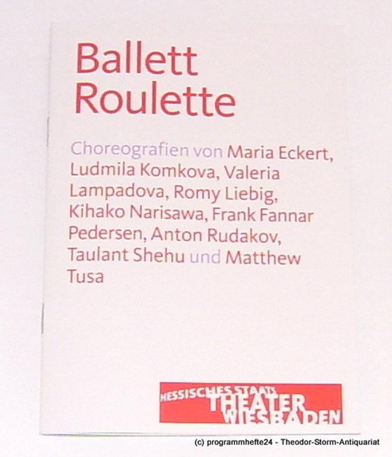 Programmheft zu Ballett Roulette. Staatstheater Wiesbaden 2013