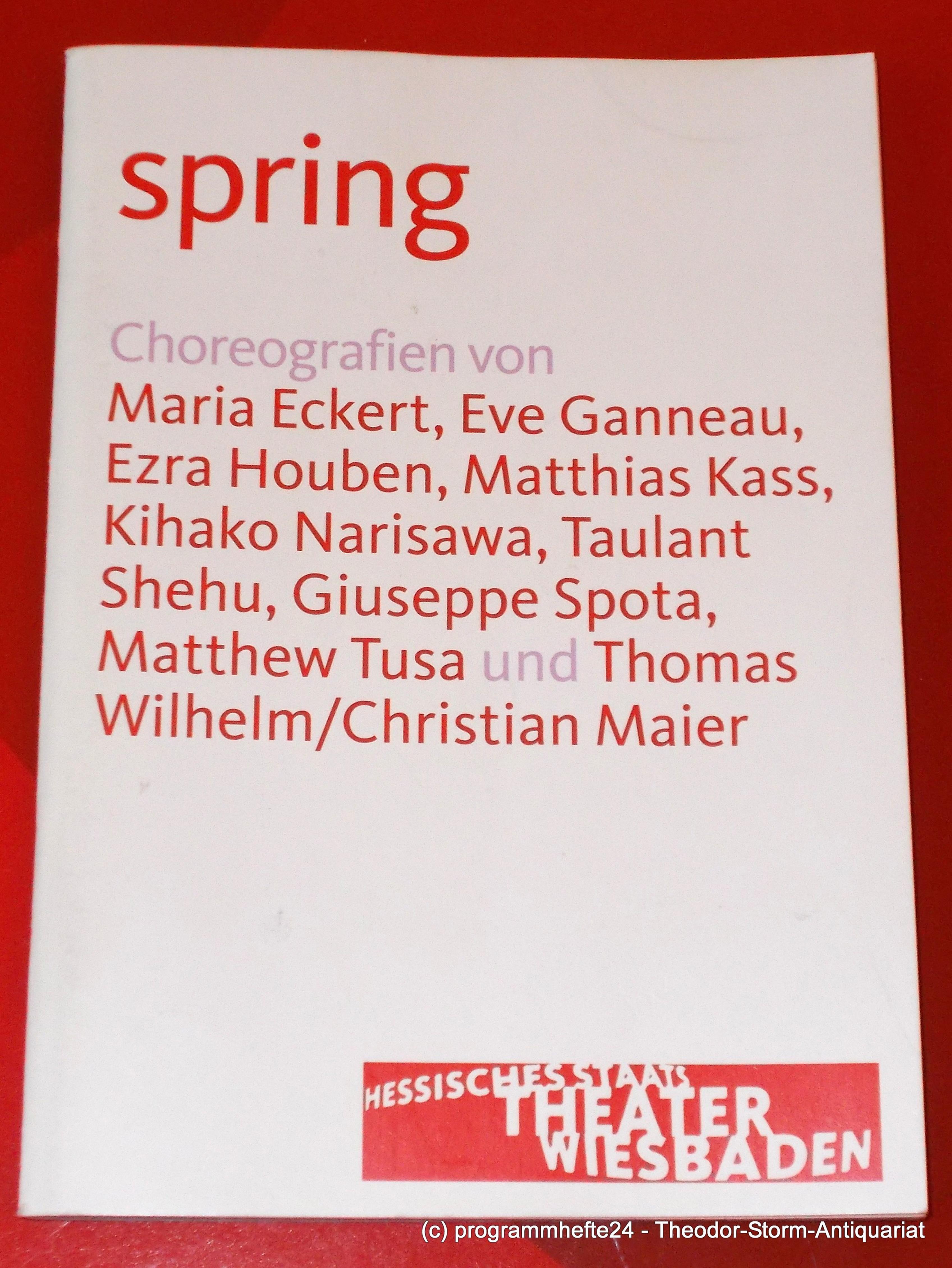Programmheft spring. Choreografien von Maria Eckert, Eve Ganneau Wiesbaden 2011