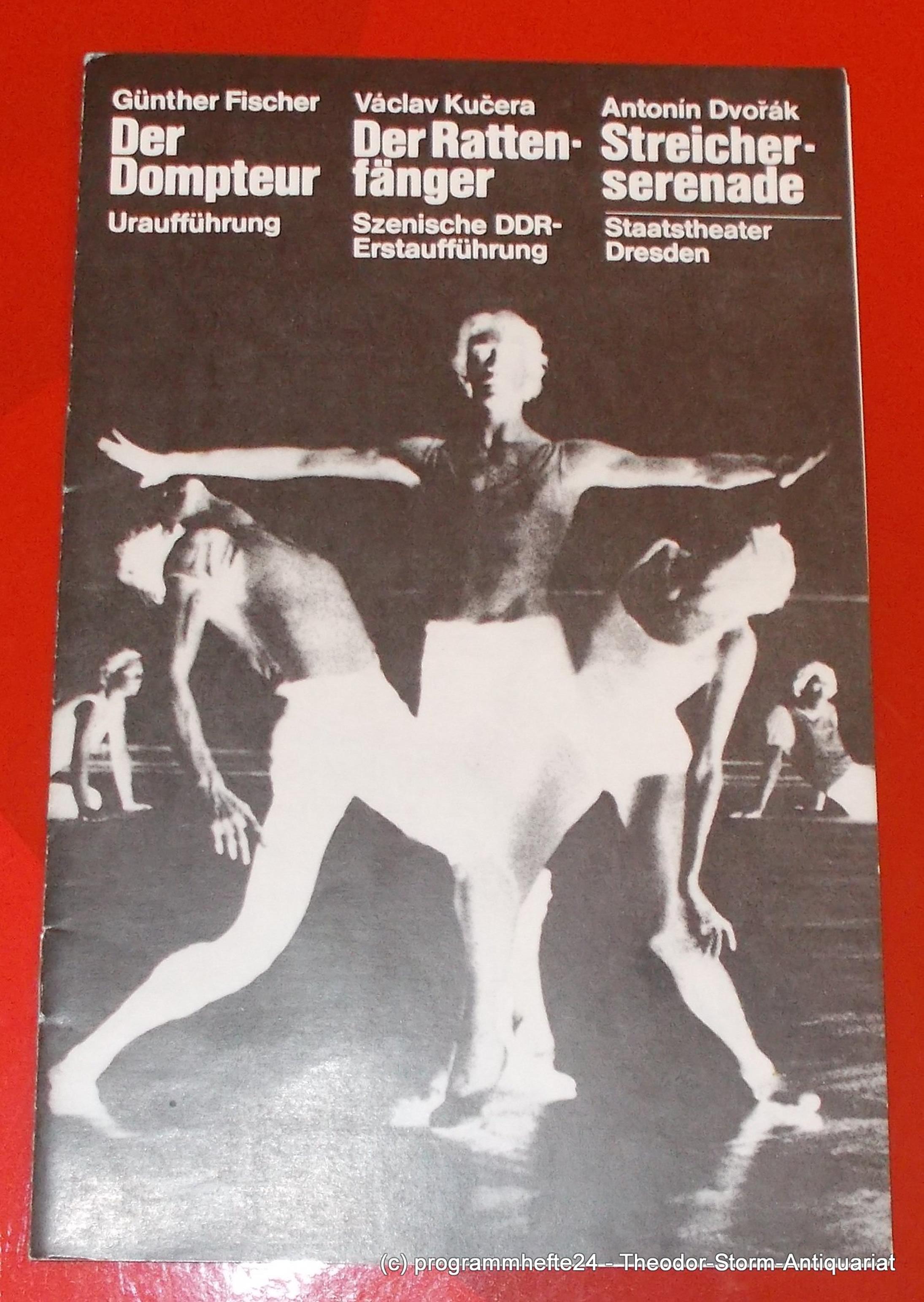 Programmheft DER DOMPTEUR. Staatsoper Dresden 1981
