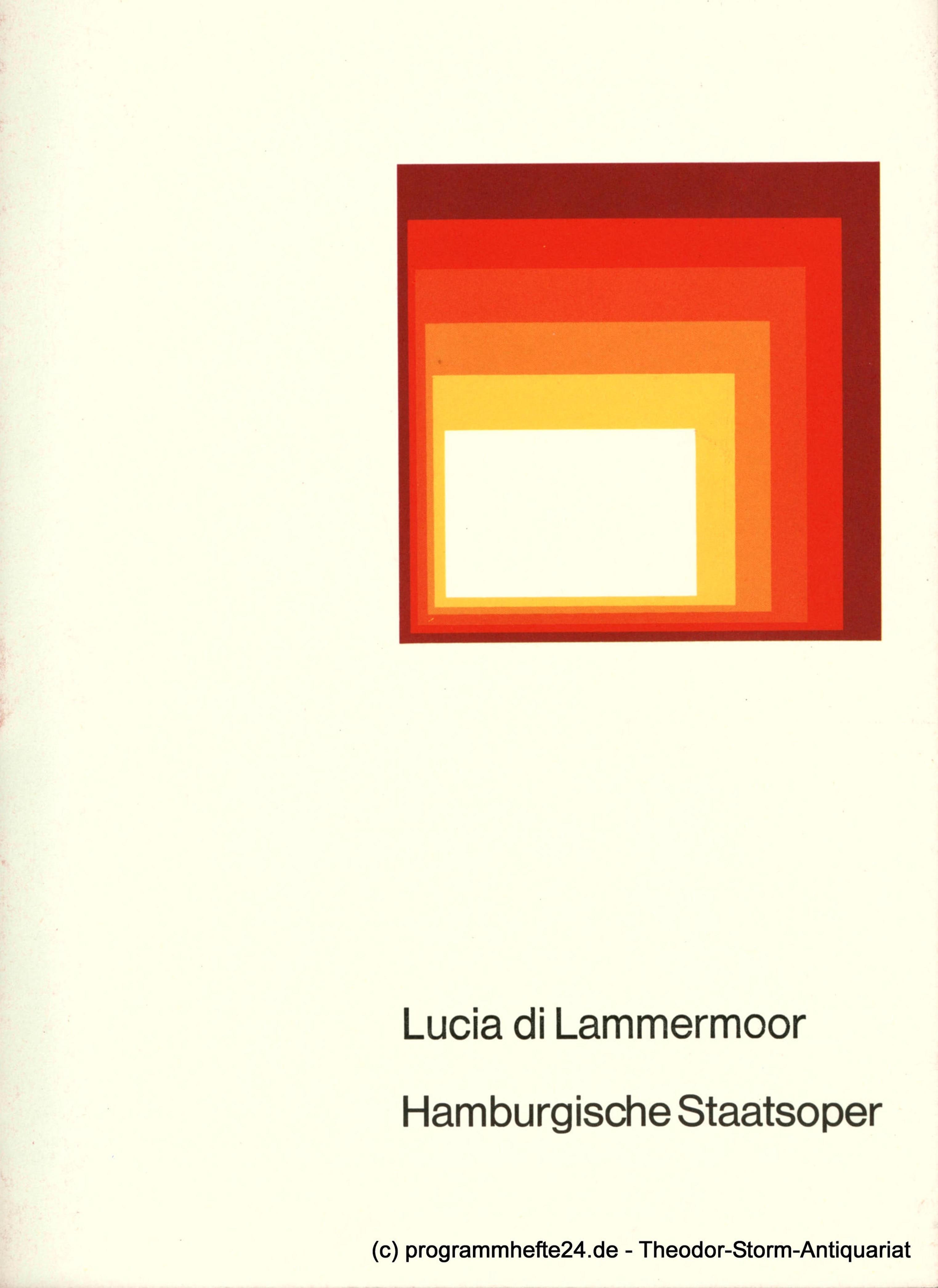 Programmheft Lucia di Lammermoor, Oper Hamburg 1975
