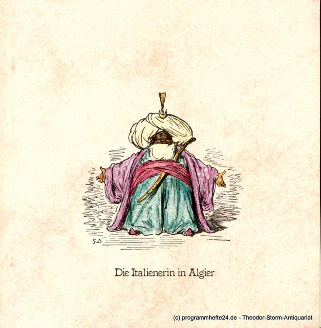 Programmheft zur Premiere Die Italienerin in Algier am 8. März 1980 Hamburgische