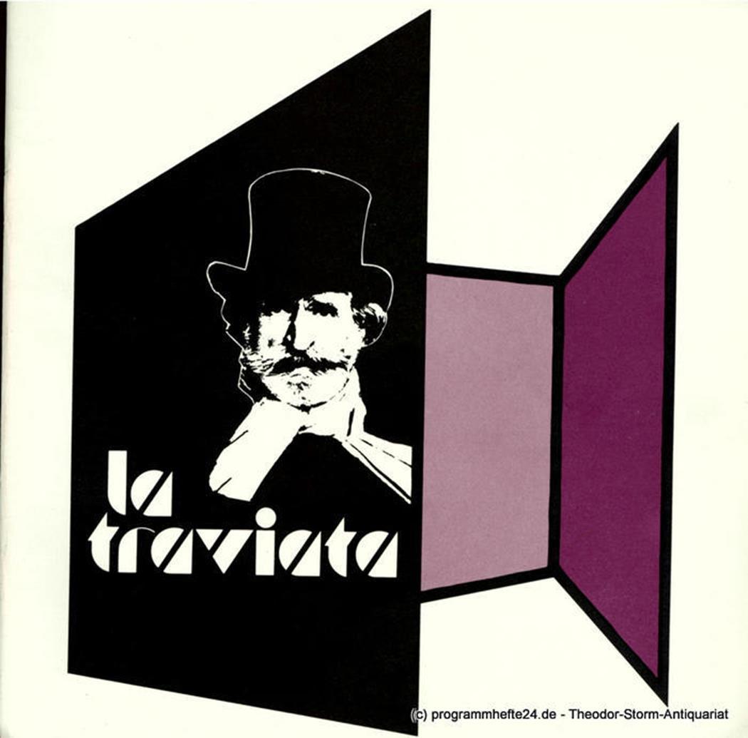 Programmheft La Traviata. Oper von Giuseppe Verdi. 11. Mai 1980 Niedersächsische