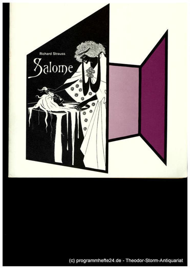Programmheft SALOME. Musikdrama von Richard Strauss. 2. Juni 1980 Niedersächsisc