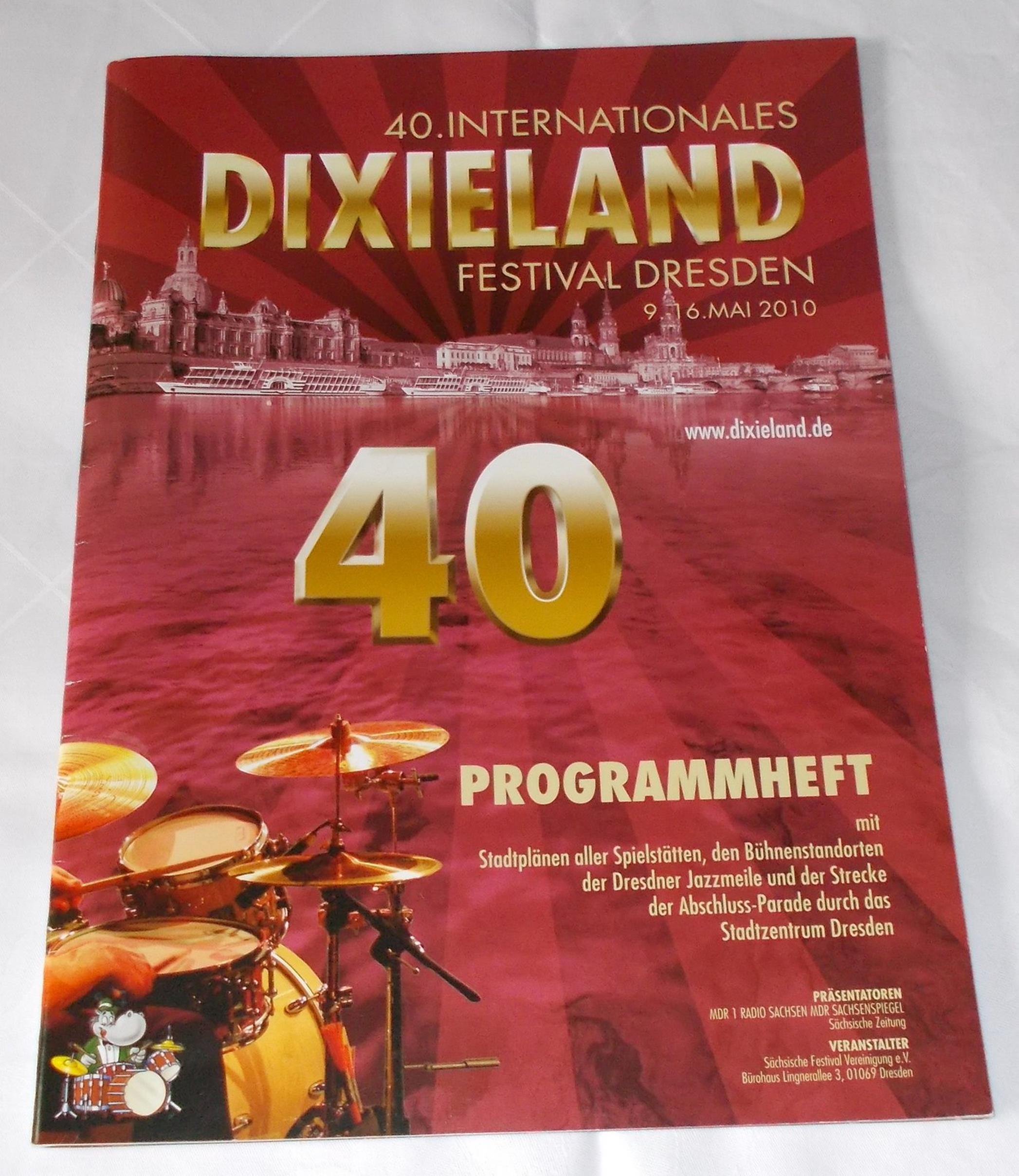 Programmheft 40. Internationales Dixieland Festival Dresden 9.-16. Mai 2010
