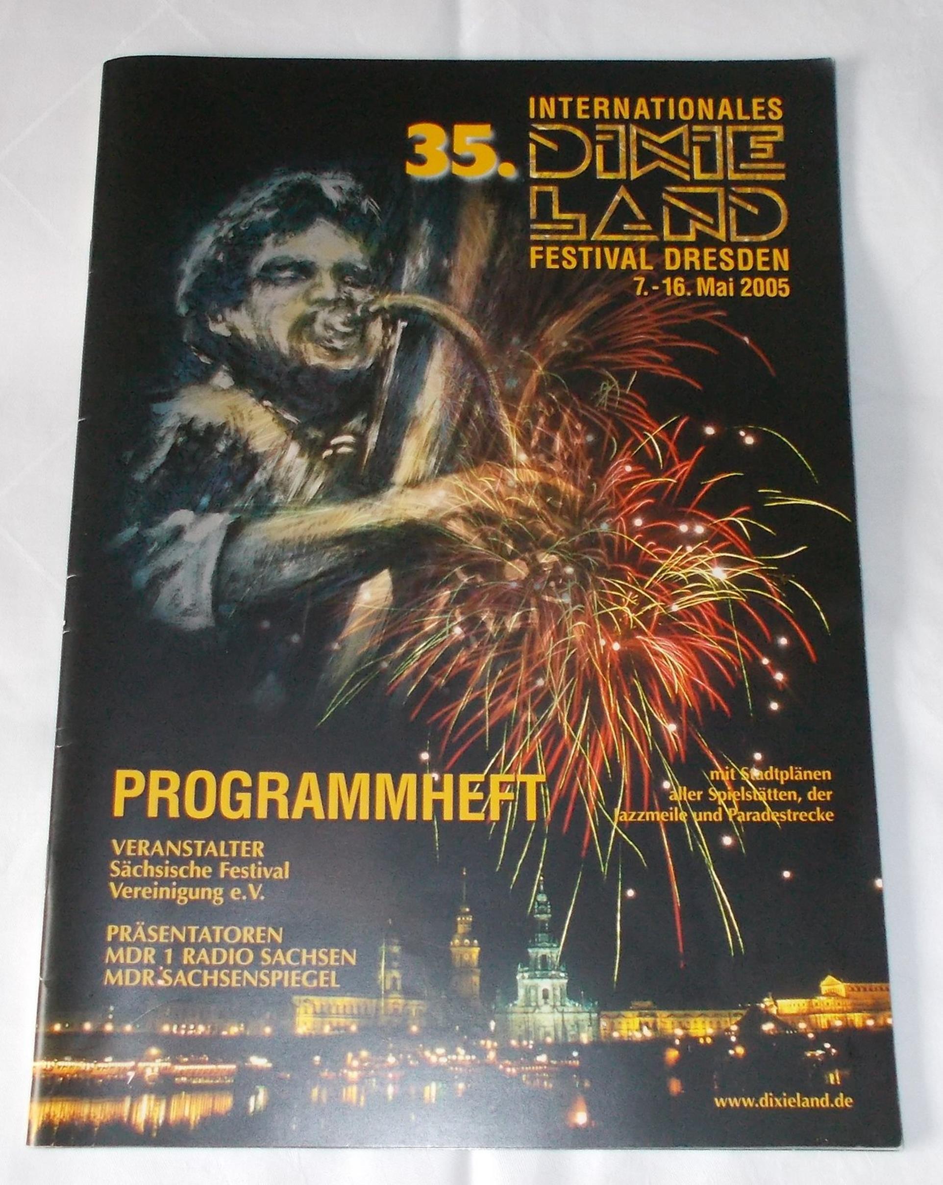 Programmheft 35. Internationales Dixieland Festival Dresden 7.-16. Mai 2005